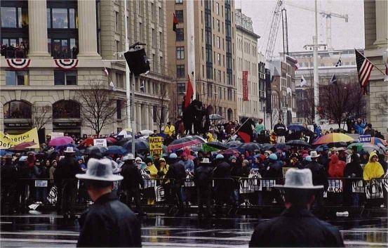 a overview of 2001 presidential inauguration protest
