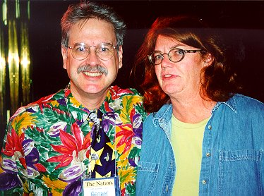 Mr George Loper and Molly Ivins on The Nation's 2000 cruise, image:loper.org